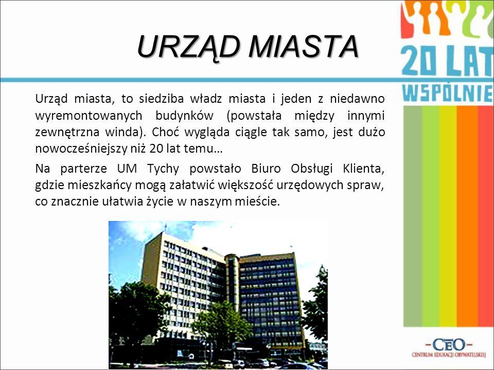 URZĄD MIASTA Urząd miasta, to siedziba władz miasta i jeden z niedawno wyremontowanych budynków (powstała między innymi zewnętrzna winda). Choć wygląd