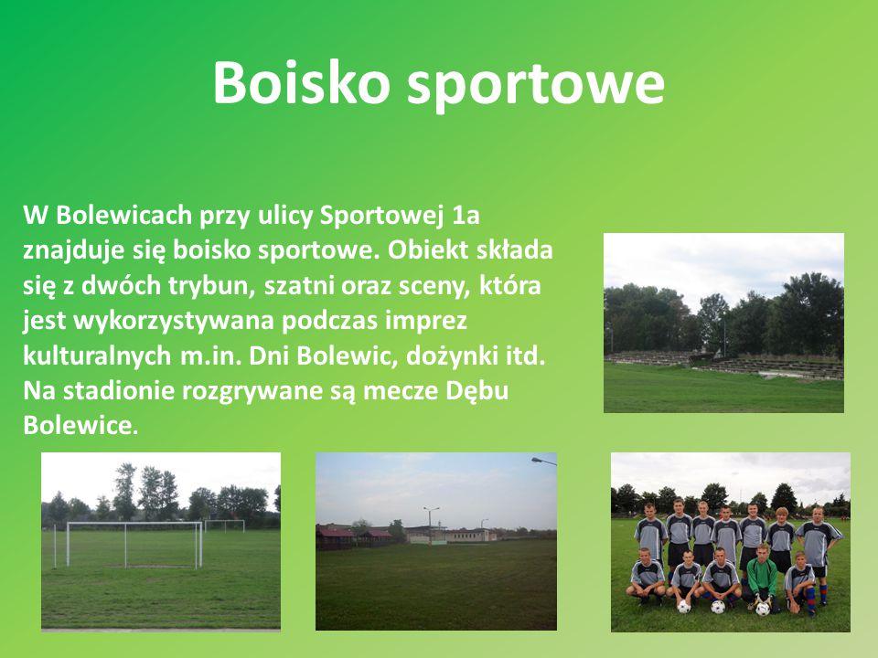 Boisko sportowe W Bolewicach przy ulicy Sportowej 1a znajduje się boisko sportowe.