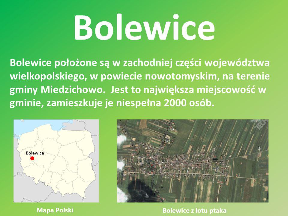Bolewice Bolewice położone są w zachodniej części województwa wielkopolskiego, w powiecie nowotomyskim, na terenie gminy Miedzichowo. Jest to najwięks