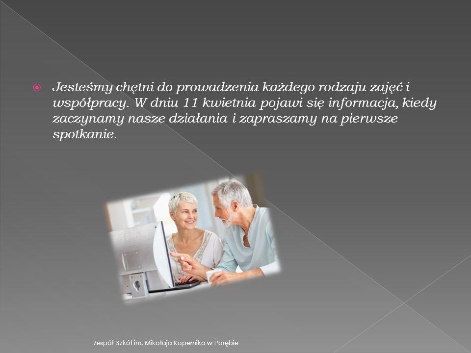  Jesteśmy chętni do prowadzenia każdego rodzaju zajęć i współpracy.