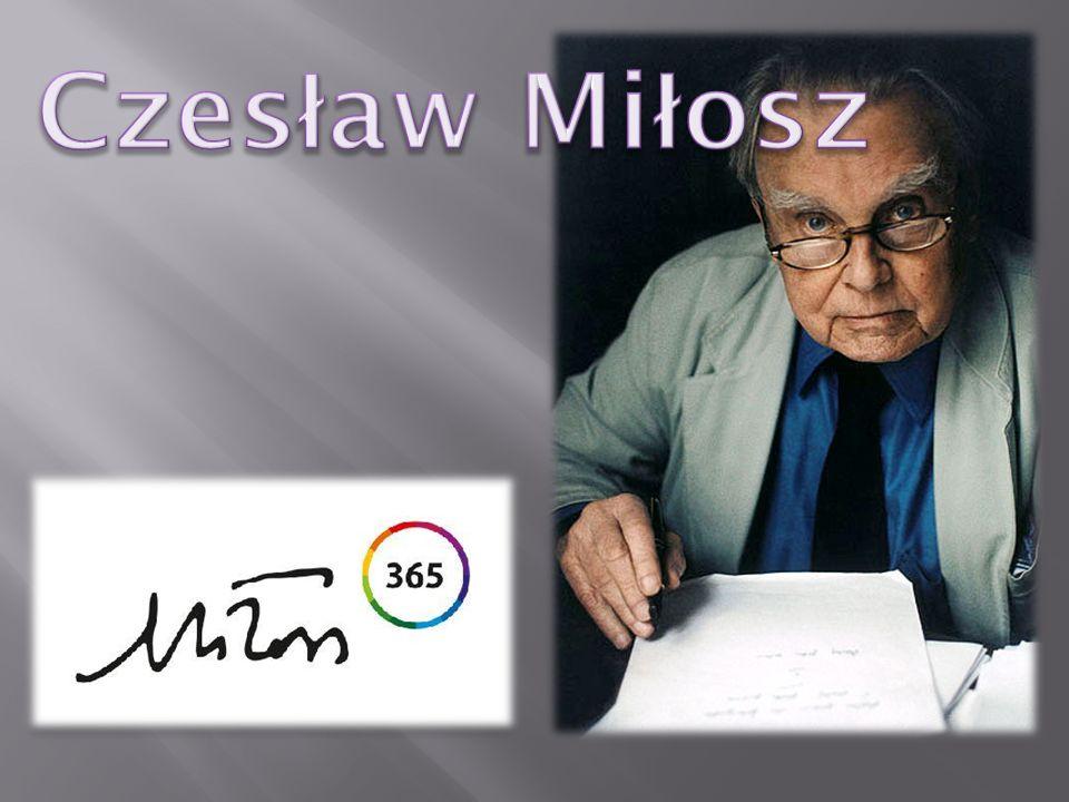 Czesław Miłosz urodził się w 30 VI 1911 roku w Szetejniach nad Niewiążą (Litwa), zmarł 14 VIII 2004 roku po długiej chorobie.
