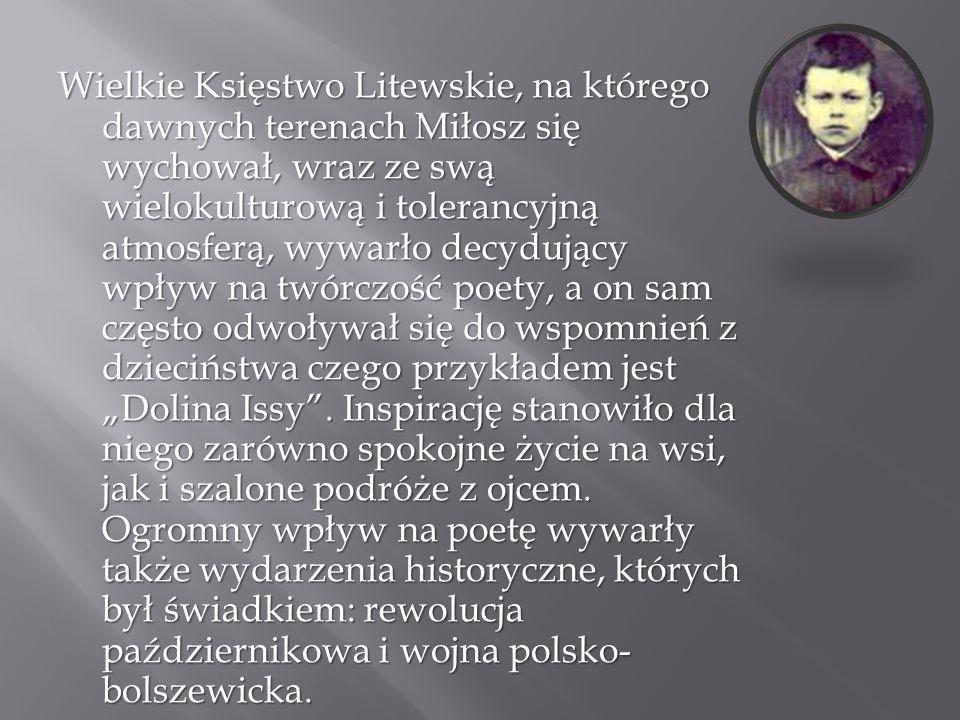 Czesław Miłosz po maturze przyjęty został na wydział prawa Uniwersytetu Stefana Batorego w Wilnie.