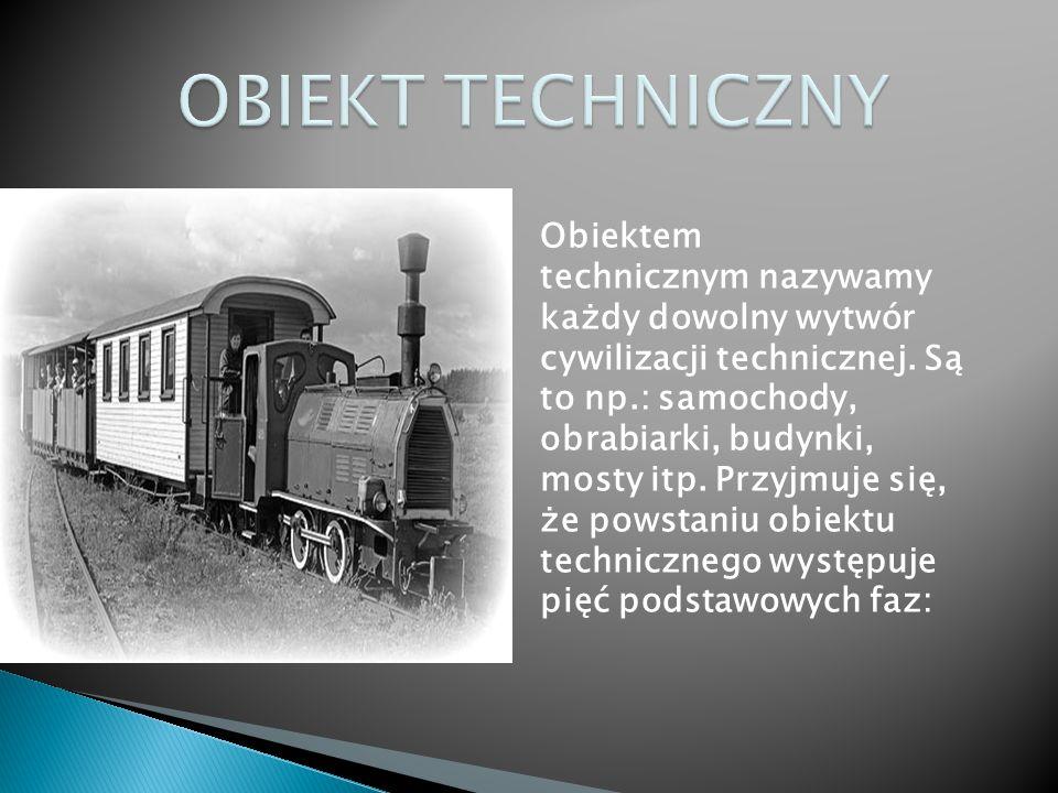 Obiektem technicznym nazywamy każdy dowolny wytwór cywilizacji technicznej. Są to np.: samochody, obrabiarki, budynki, mosty itp. Przyjmuje się, że po