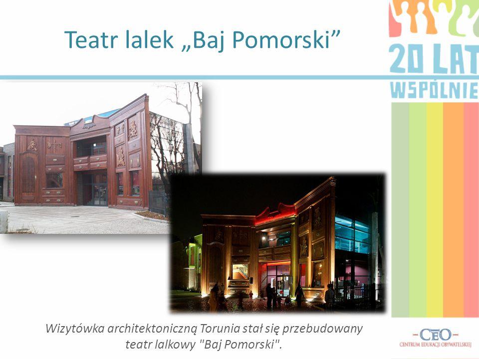 """Teatr lalek """"Baj Pomorski"""" Wizytówka architektoniczną Torunia stał się przebudowany teatr lalkowy"""