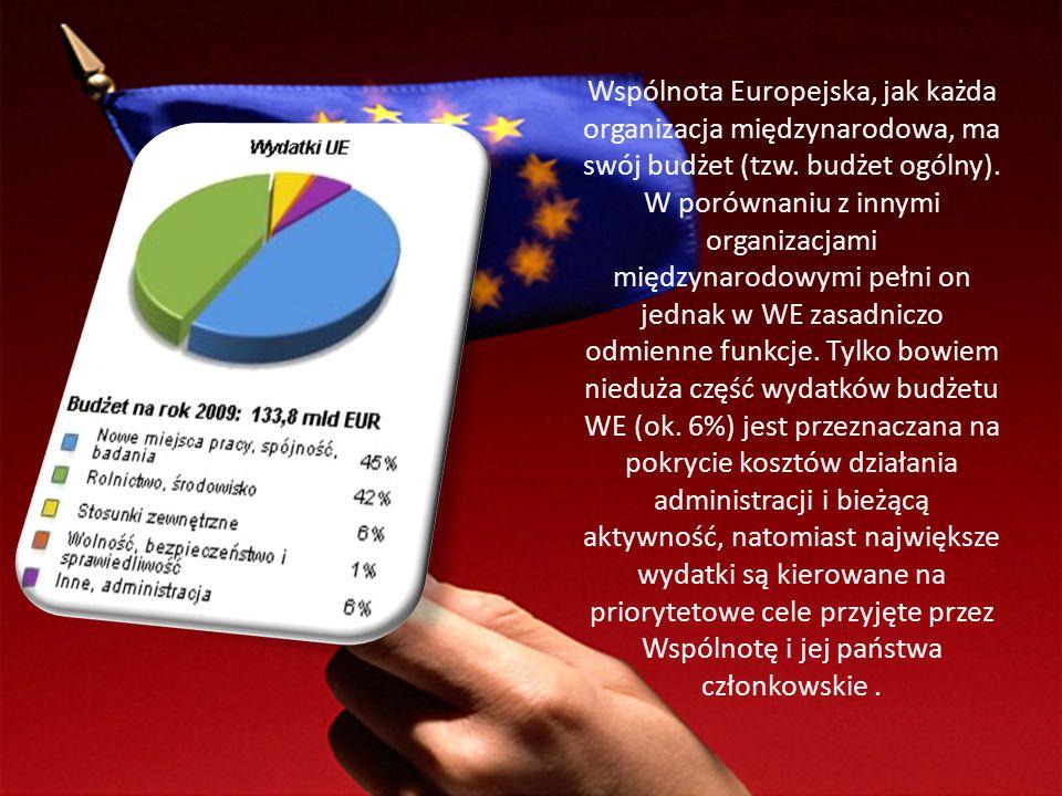 Wspólnota Europejska, jak każda organizacja międzynarodowa, ma swój budżet (tzw. budżet ogólny). W porównaniu z innymi organizacjami międzynarodowymi