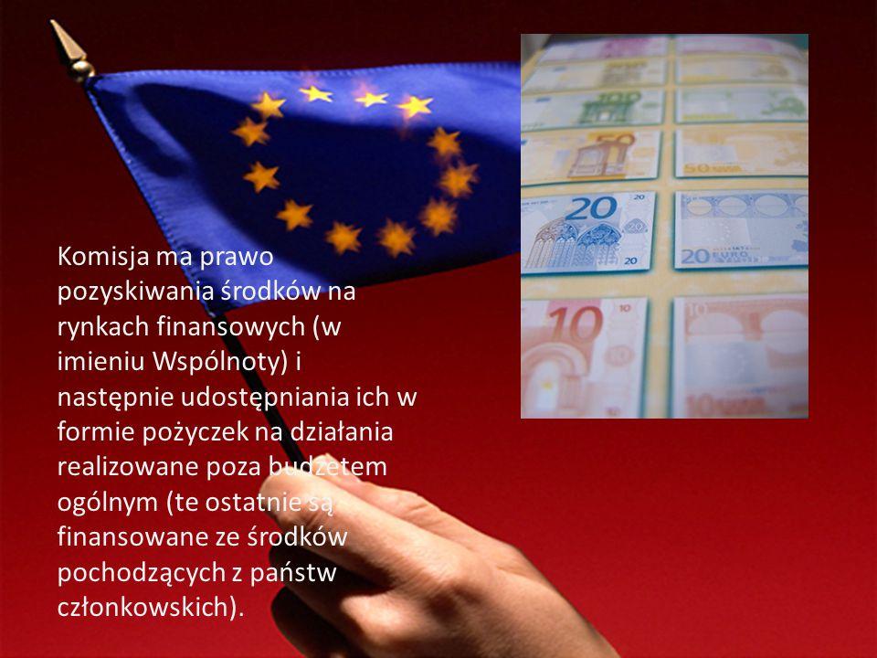 Komisja ma prawo pozyskiwania środków na rynkach finansowych (w imieniu Wspólnoty) i następnie udostępniania ich w formie pożyczek na działania realiz