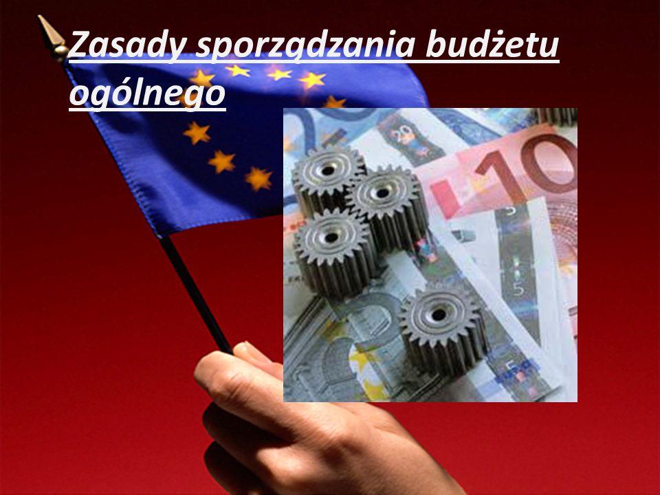 Zasada jednolitości budżetu Zasada uniwersalności Zasada równowagi Zasada sporządzania budżetu w skali rocznej Zasada specyfikacji wydatków