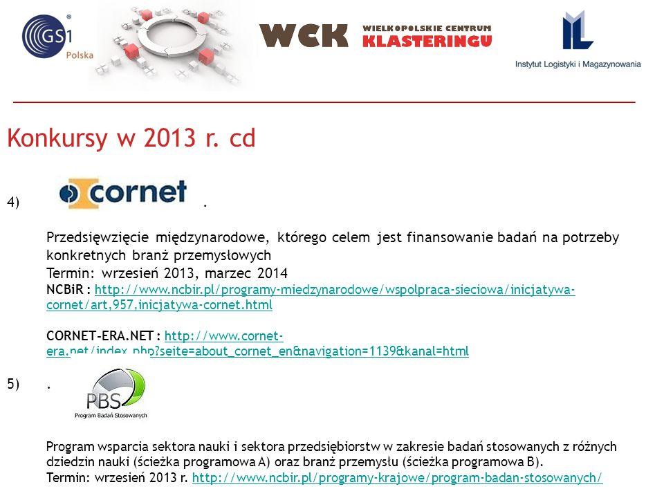 Konkursy w 2013 r. cd 4).