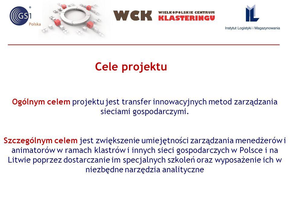 Ogólnym celem projektu jest transfer innowacyjnych metod zarządzania sieciami gospodarczymi.