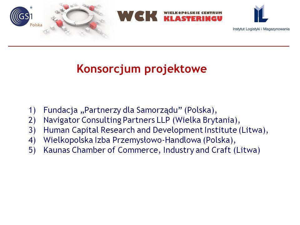 """1)Fundacja """"Partnerzy dla Samorządu (Polska), 2)Navigator Consulting Partners LLP (Wielka Brytania), 3)Human Capital Research and Development Institute (Litwa), 4)Wielkopolska Izba Przemysłowo-Handlowa (Polska), 5)Kaunas Chamber of Commerce, Industry and Craft (Litwa) Konsorcjum projektowe"""