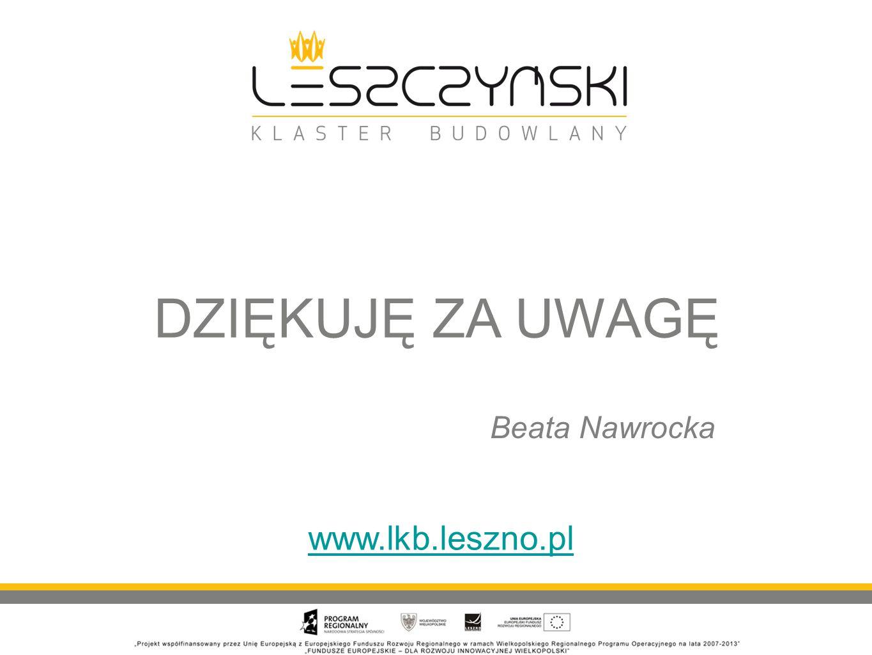 DZIĘKUJĘ ZA UWAGĘ www.lkb.leszno.pl Beata Nawrocka