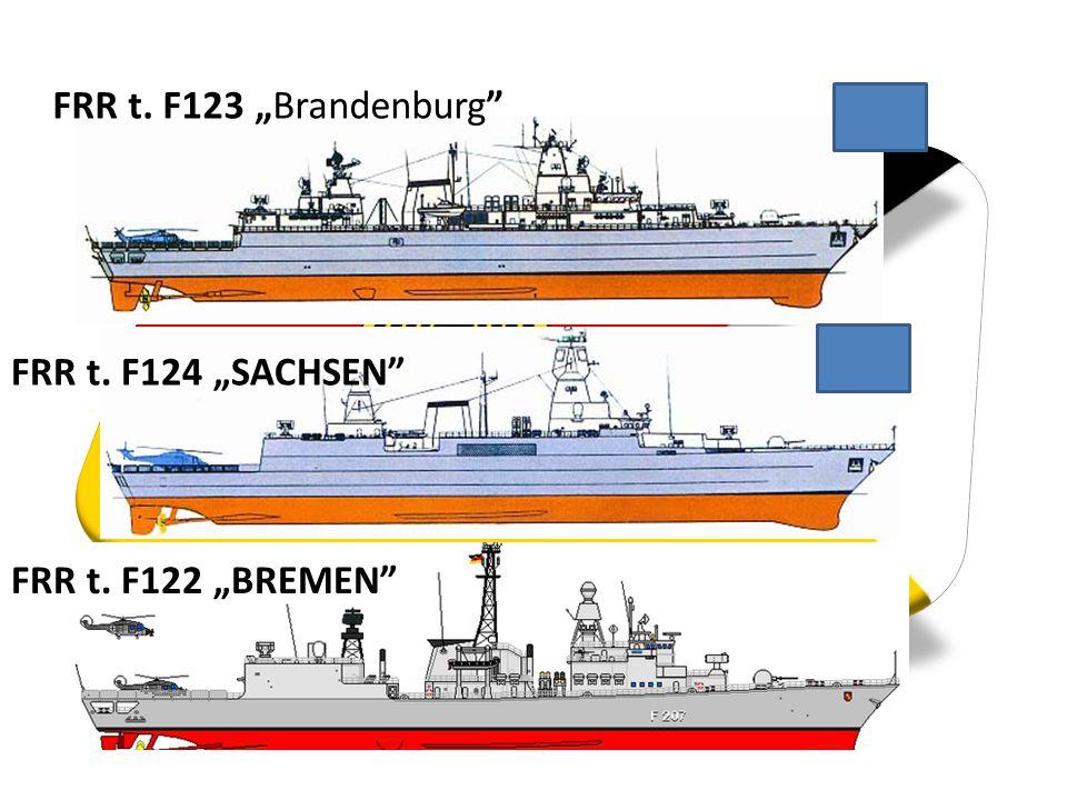 """FRR t. F124 """"SACHSEN"""" FRR t. F123 """"Brandenburg"""" FRR t. F122 """"BREMEN"""""""