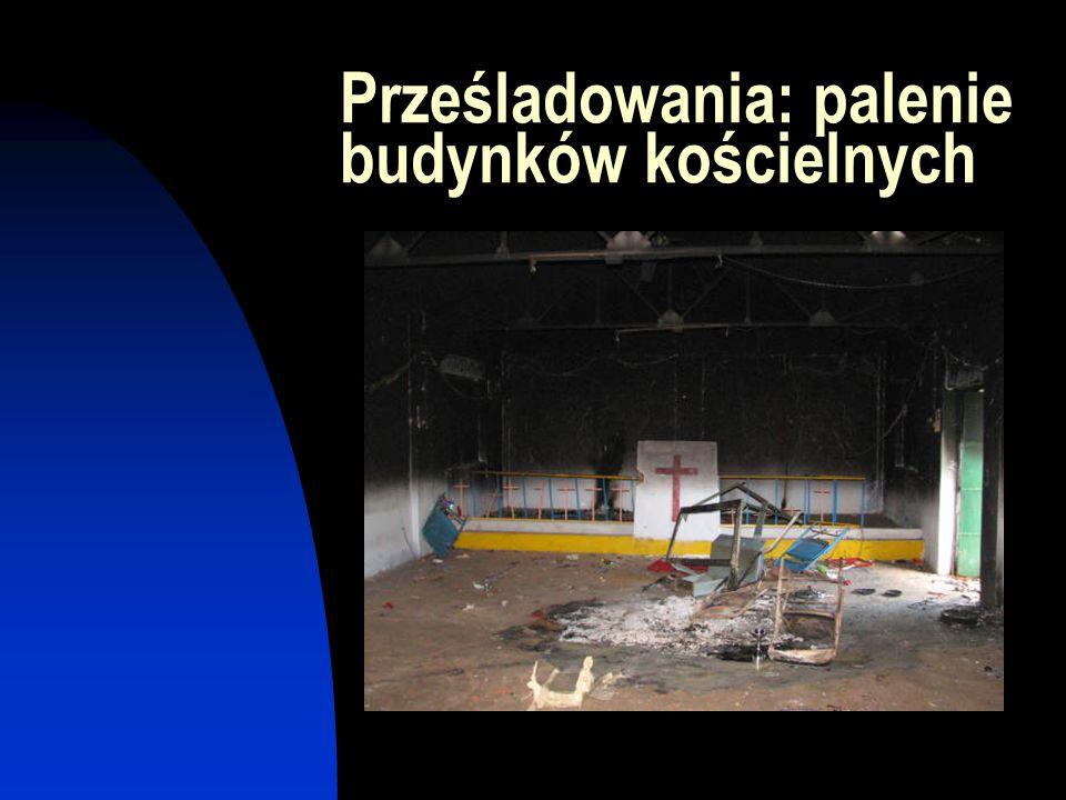 Prześladowania: palenie budynków kościelnych