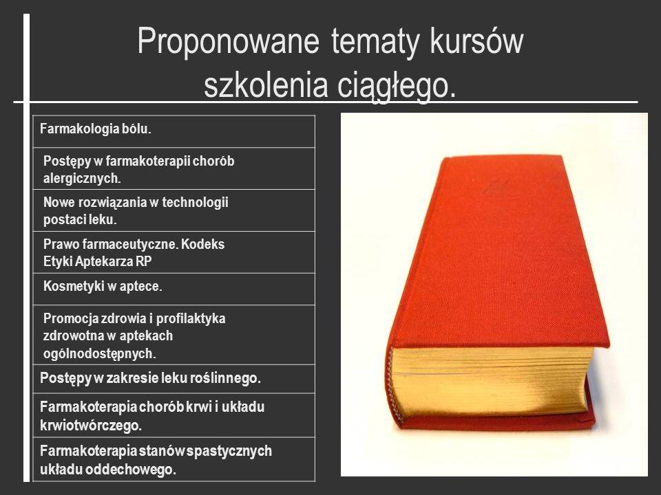 Szkolenia i kursy w 2008 roku. Lp.TematIlość pkt.