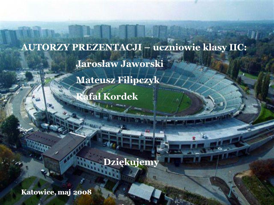 AUTORZY PREZENTACJI – uczniowie klasy IIC: Jarosław Jaworski Mateusz Filipczyk Rafał Kordek Dziękujemy Katowice, maj 2008