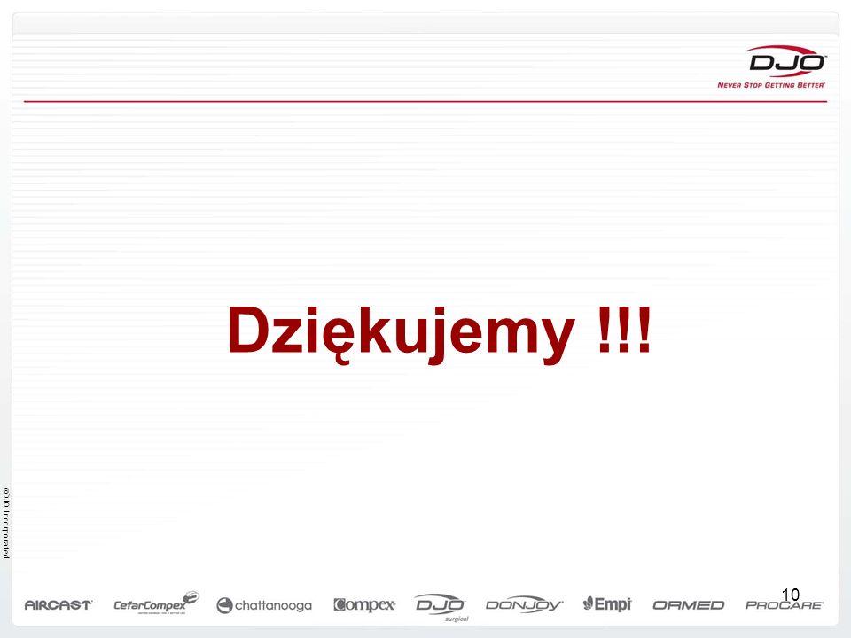 ©DJO Incorporated Dziękujemy !!! 10