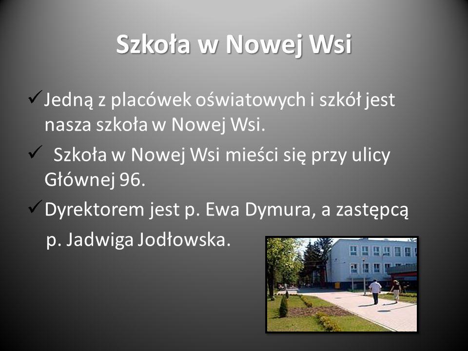 Szkoła w Nowej Wsi Jedną z placówek oświatowych i szkół jest nasza szkoła w Nowej Wsi.