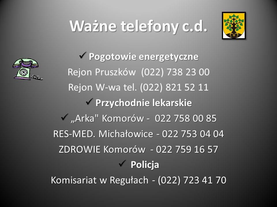 Ważne telefony c.d.