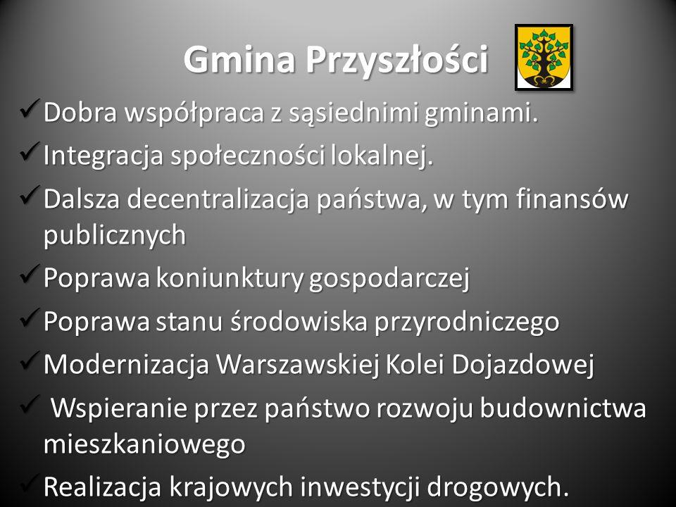 Gmina Przyszłości Dobra współpraca z sąsiednimi gminami. Dobra współpraca z sąsiednimi gminami. Integracja społeczności lokalnej. Integracja społeczno