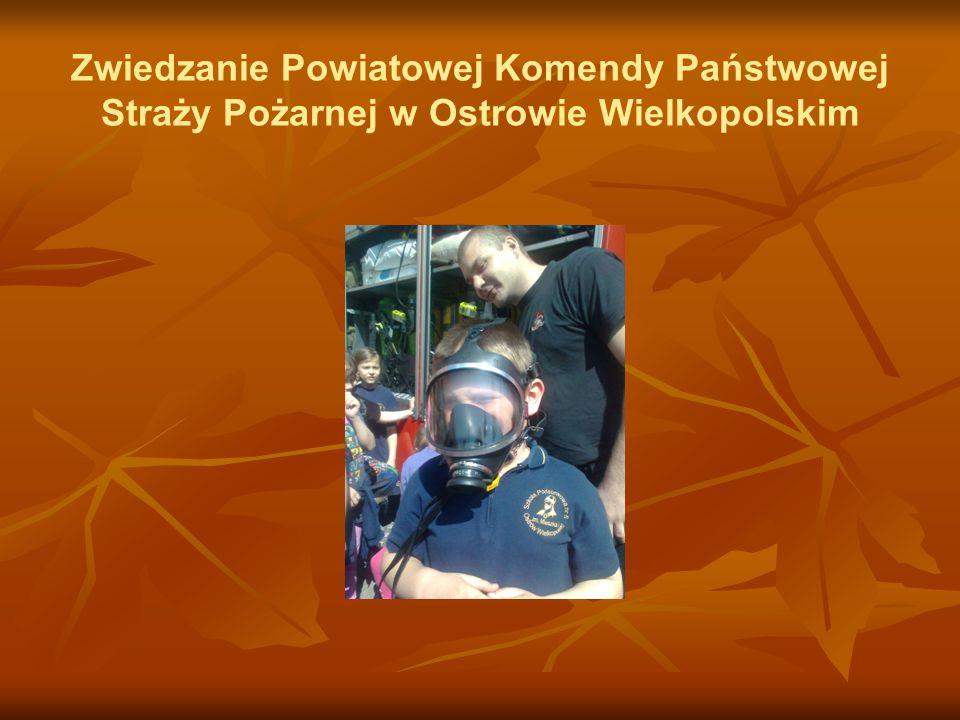 Zwiedzanie Powiatowej Komendy Państwowej Straży Pożarnej w Ostrowie Wielkopolskim