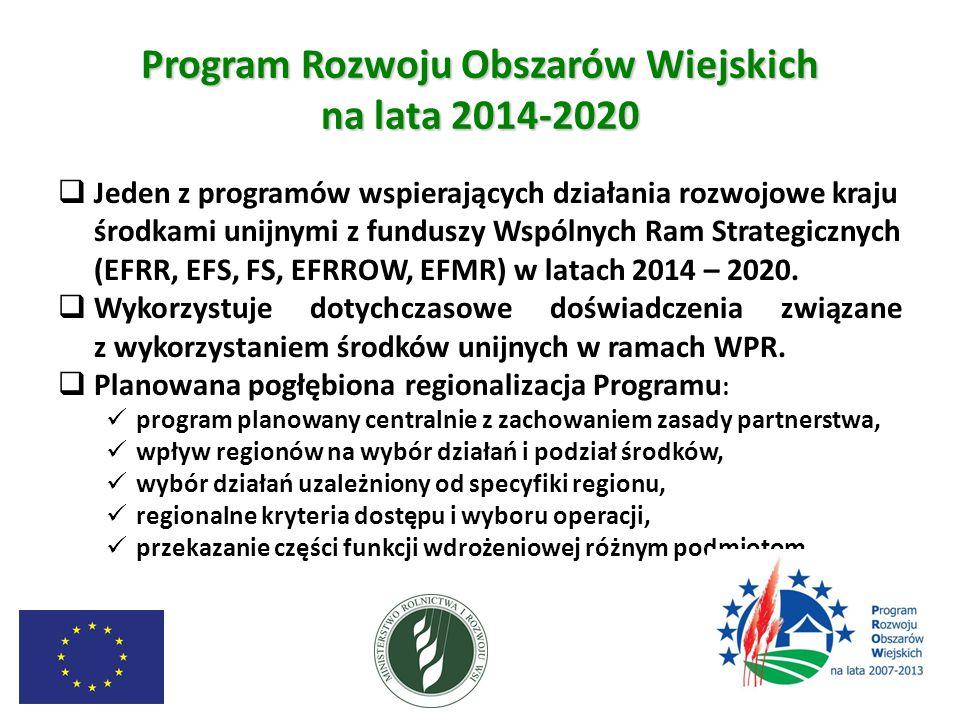 PROW 2014 – 2020 będzie realizował  6 priorytetów UE w zakresie rozwoju obszarów wiejskich określonych w art.