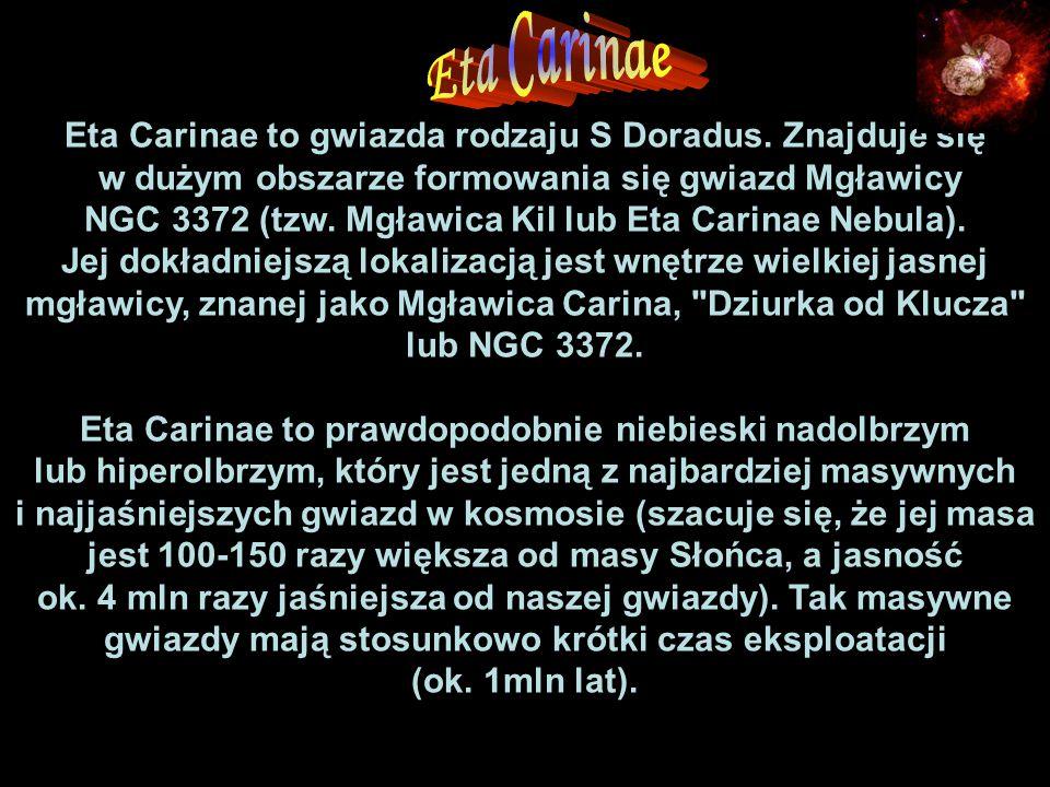 Eta Carinae to gwiazda rodzaju S Doradus.
