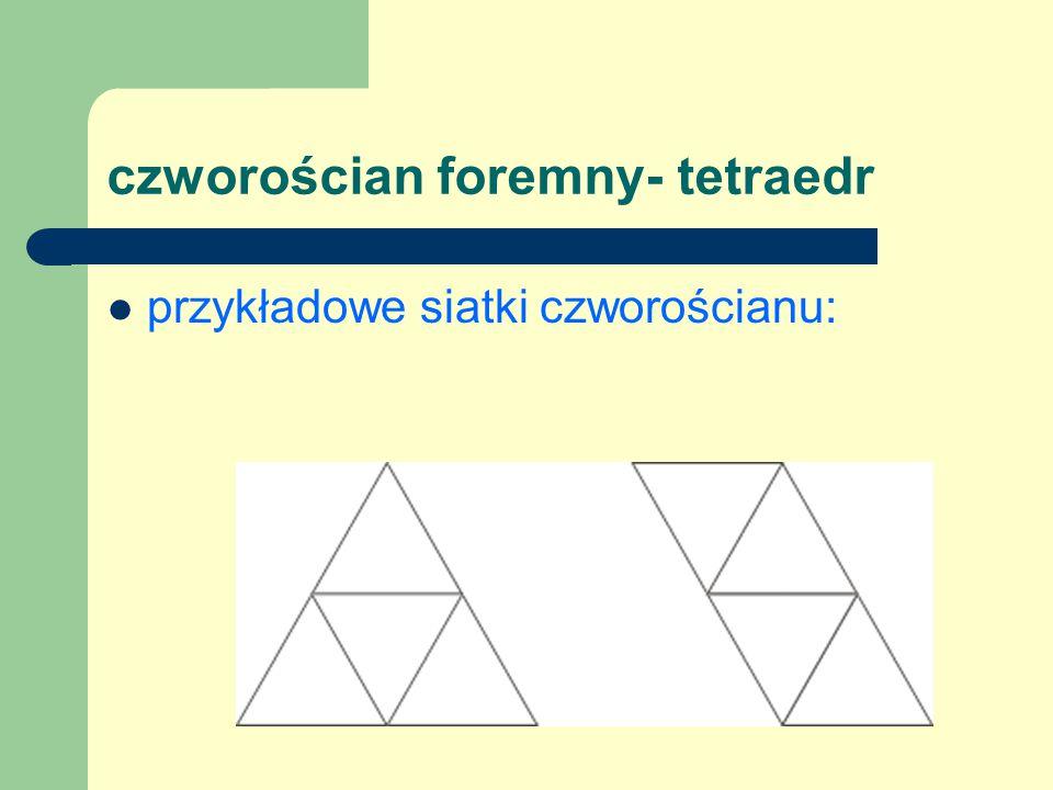 sześcian foremny - heksaedr to wielościan wypukły, którego wszystkie ściany są przystającymi wielokątami foremnymi i każdy jego wierzchołek jest końcem tej samej liczby krawędzi wielościanu.