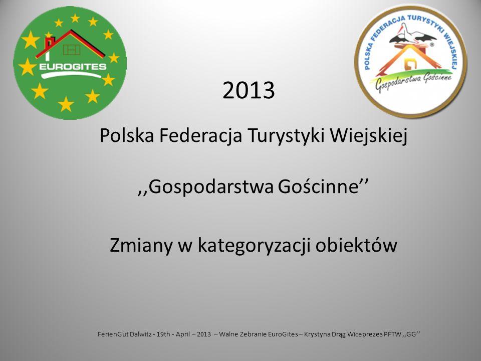 FerienGut Dalwitz - 19th - April – 2013 – Walne Zebranie EuroGites – Krystyna Drąg Wiceprezes PFTW,,GG'' Polska Federacja Turystyki Wiejskiej,,Gospoda