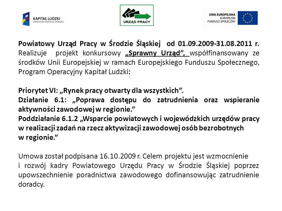 Powiatowy Urząd Pracy w Środzie Śląskiej od 01.09.2009-31.08.2011 r.