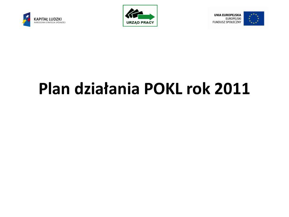Plan działania POKL rok 2011
