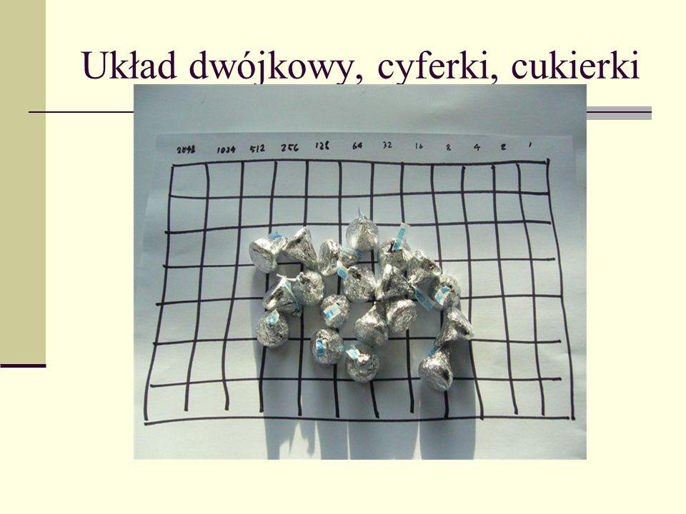 Układ dwójkowy, cyferki, cukierki