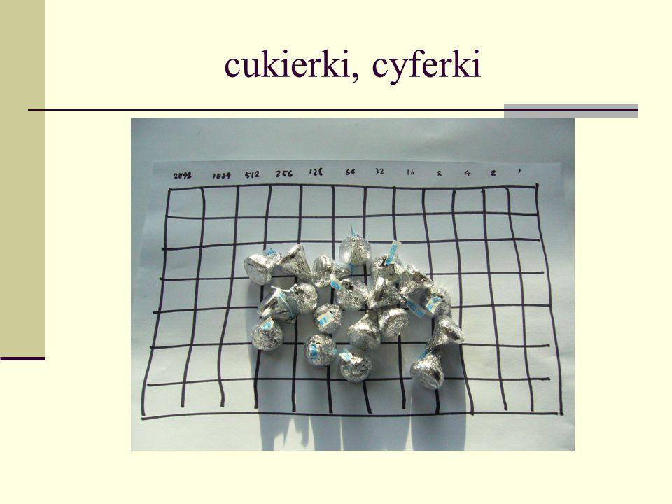 cukierki, cyferki