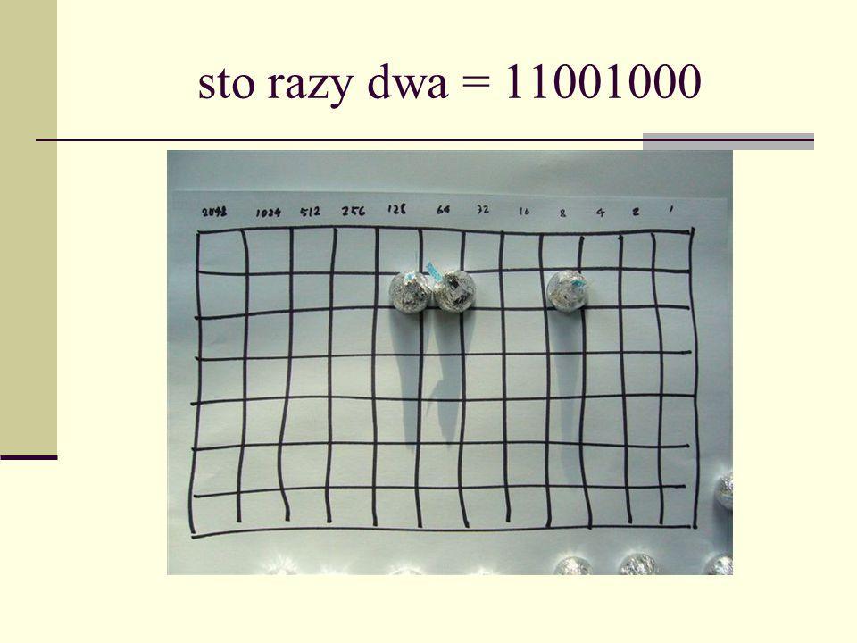 sto razy dwa = 11001000
