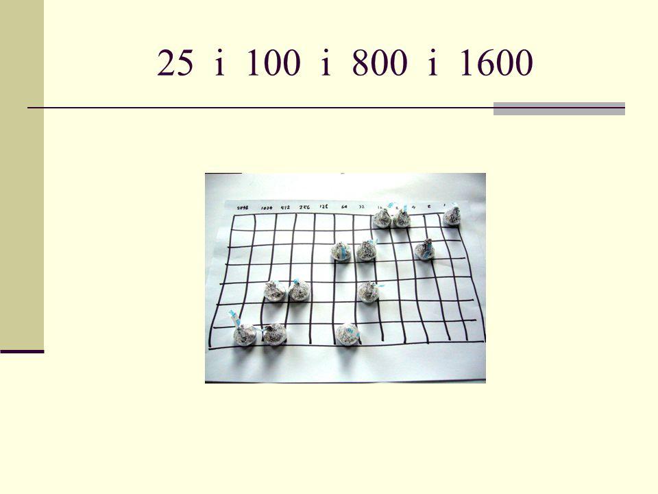 25 i 100 i 800 i 1600
