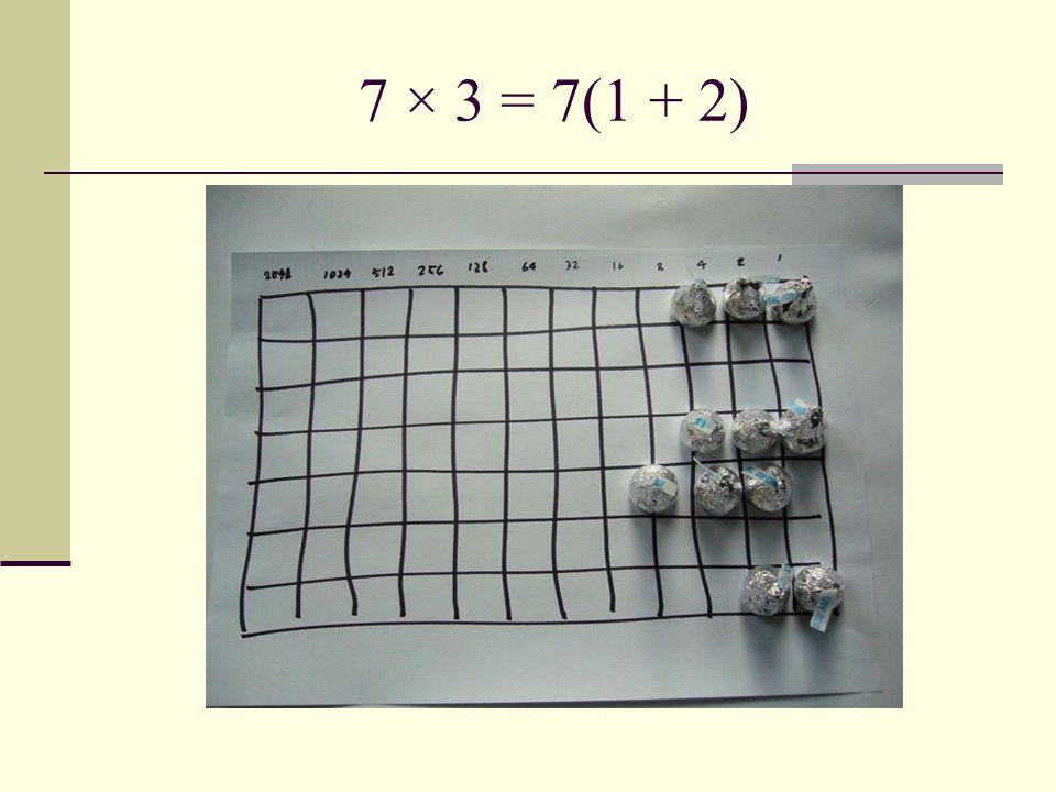 7 × 3 = 7(1 + 2)