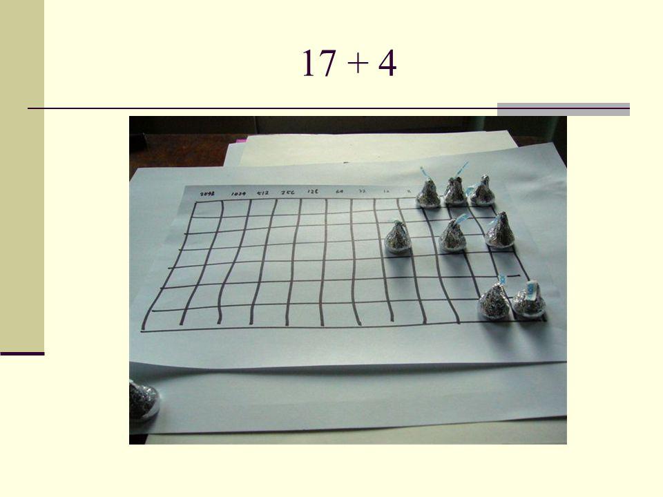 17 + 4