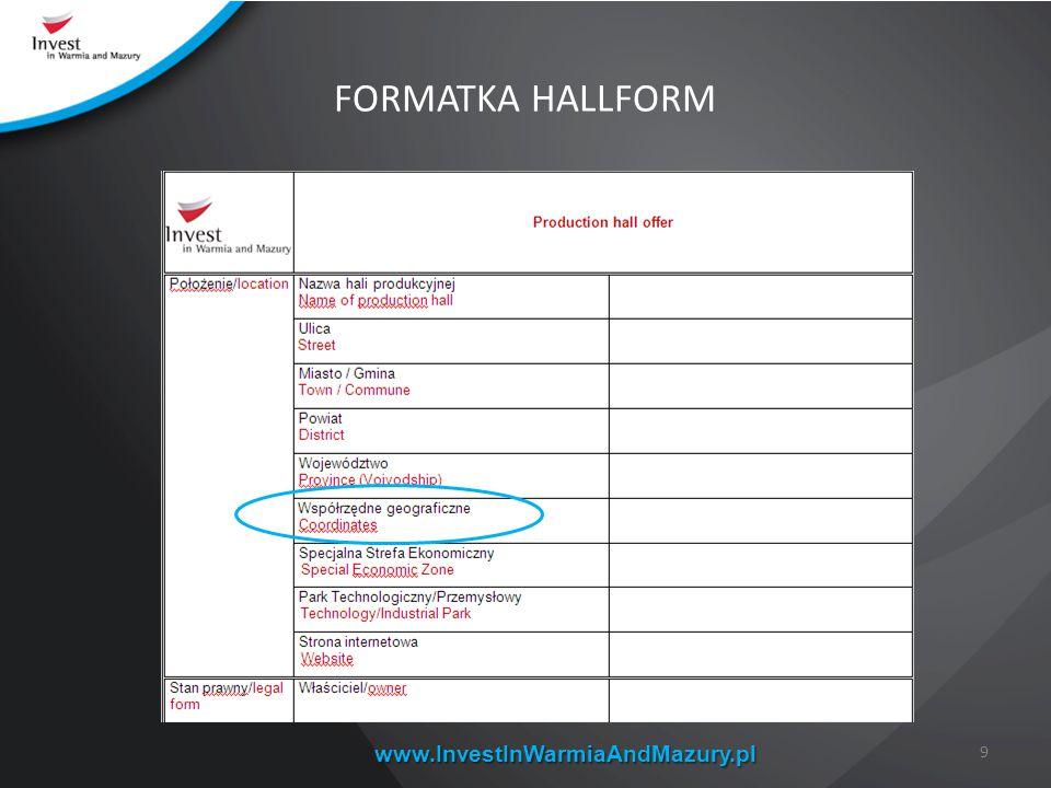 www.InvestInWarmiaAndMazury.pl FORMATKA HALLFORM 9