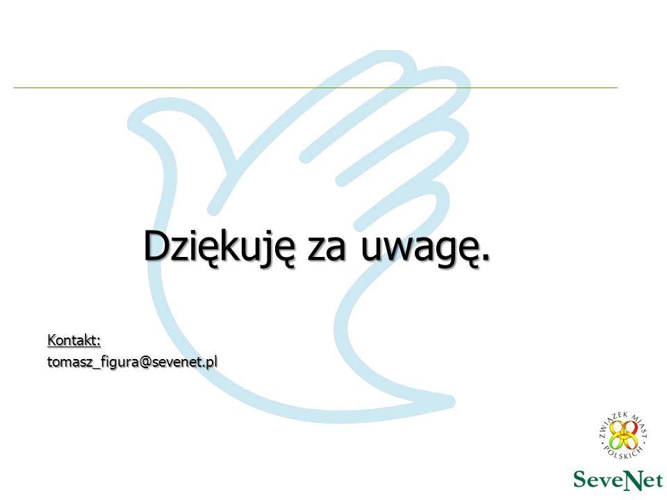Dziękuję za uwagę. Kontakt:tomasz_figura@sevenet.pl