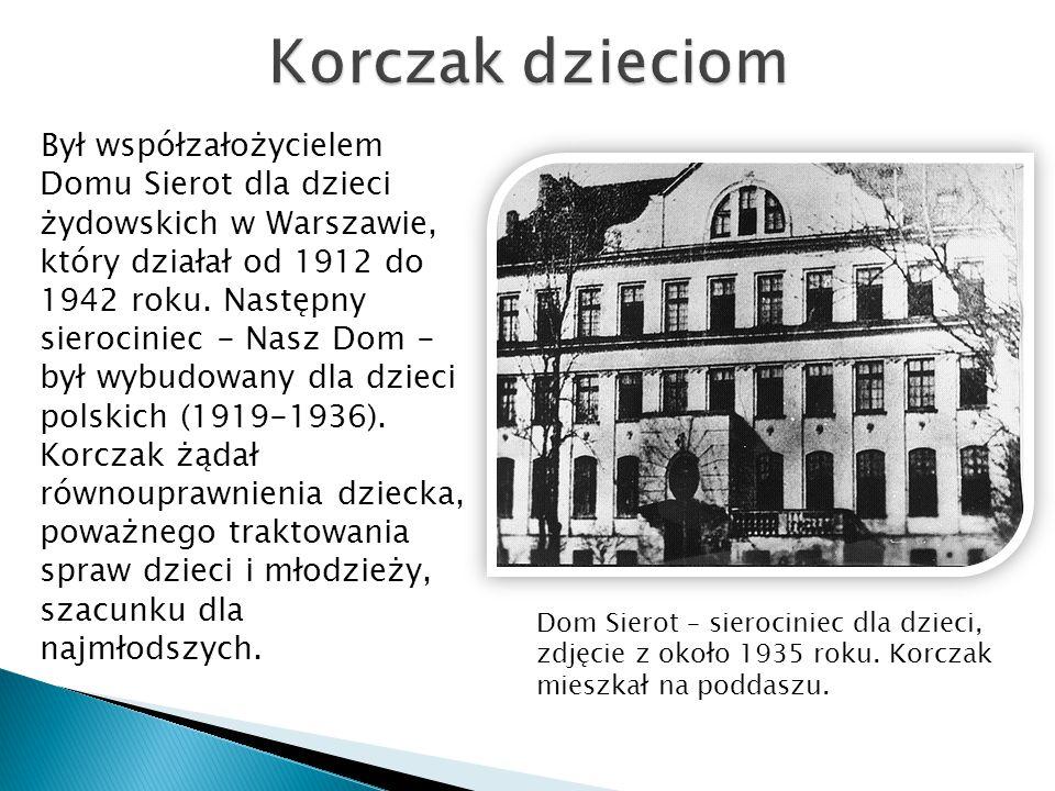 Był współzałożycielem Domu Sierot dla dzieci żydowskich w Warszawie, który działał od 1912 do 1942 roku. Następny sierociniec - Nasz Dom - był wybudow
