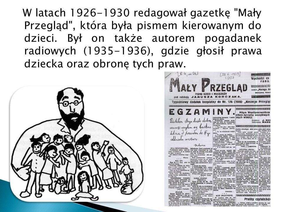 W latach 1926-1930 redagował gazetkę