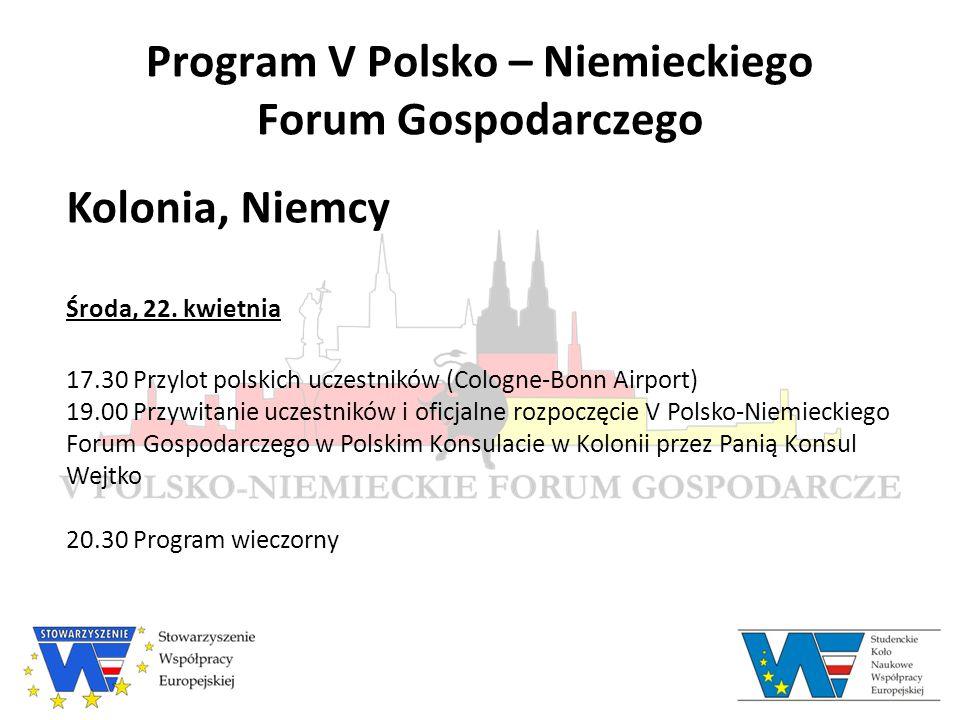 Prelegenci V Polsko – Niemieckiego Forum Gospodarczego Honorata Nyga-Łukaszewska Fundacja im.