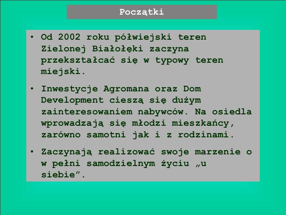 Od 2002 roku półwiejski teren Zielonej Białołęki zaczyna przekształcać się w typowy teren miejski.
