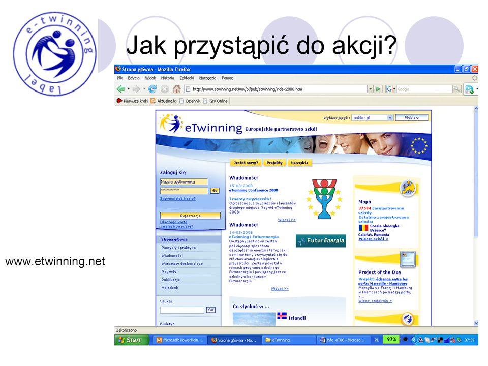 Jak przystąpić do akcji www.etwinning.net