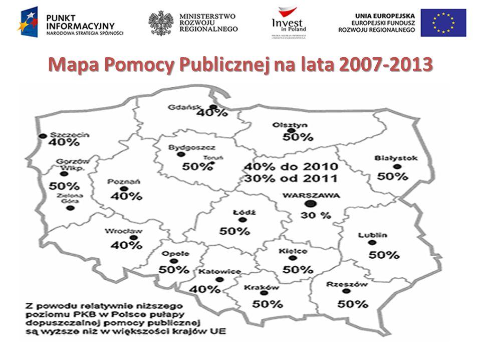 Mapa Pomocy Publicznej na lata 2007-2013