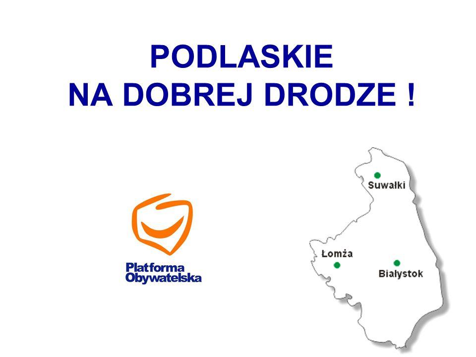 Dochody samorządów woj. podlaskiego RokKwota 20052,95 mld 20084,04 mld 20094,4 mld