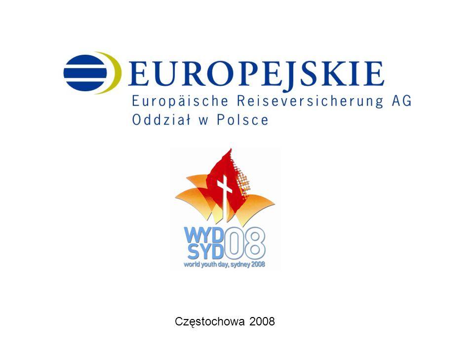 Europäische Reiseversicherung AG Oddział w Polsce życzy wszystkim pielgrzymom na XX Światowe Dni Młodzieży Sydney 2008 wielu wrażeń duchowych