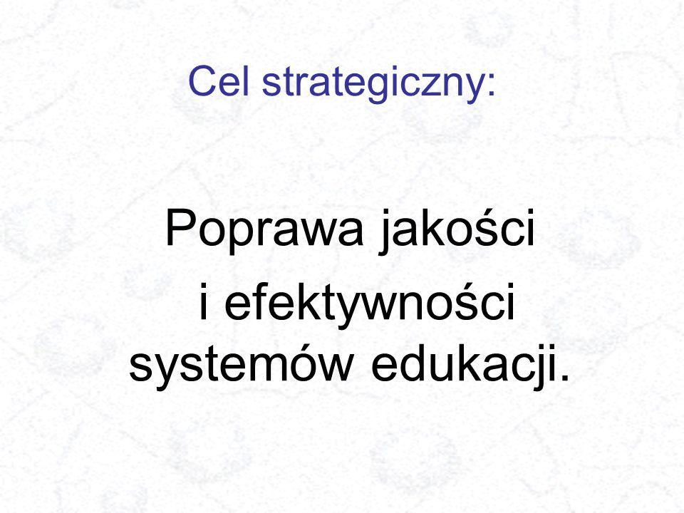 Cel strategiczny: Poprawa jakości i efektywności systemów edukacji.
