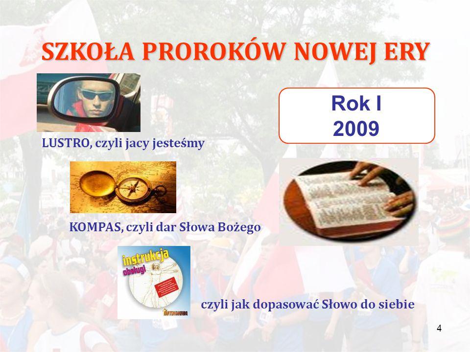 """5 SZKOŁA PROROKÓW NOWEJ ERY Rok I 2009 """"Wiara na swój sposób, potrzebuje tego, by zobaczyć i dotknąć."""