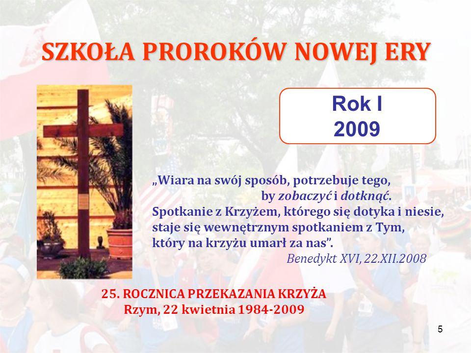 """6 SZKOŁA PROROKÓW NOWEJ ERY Rok II 2010 Szkoła naśladowania Chrystusa """"Nauczycielu dobry, co mam czynić, aby osiągnąć życie wieczne."""