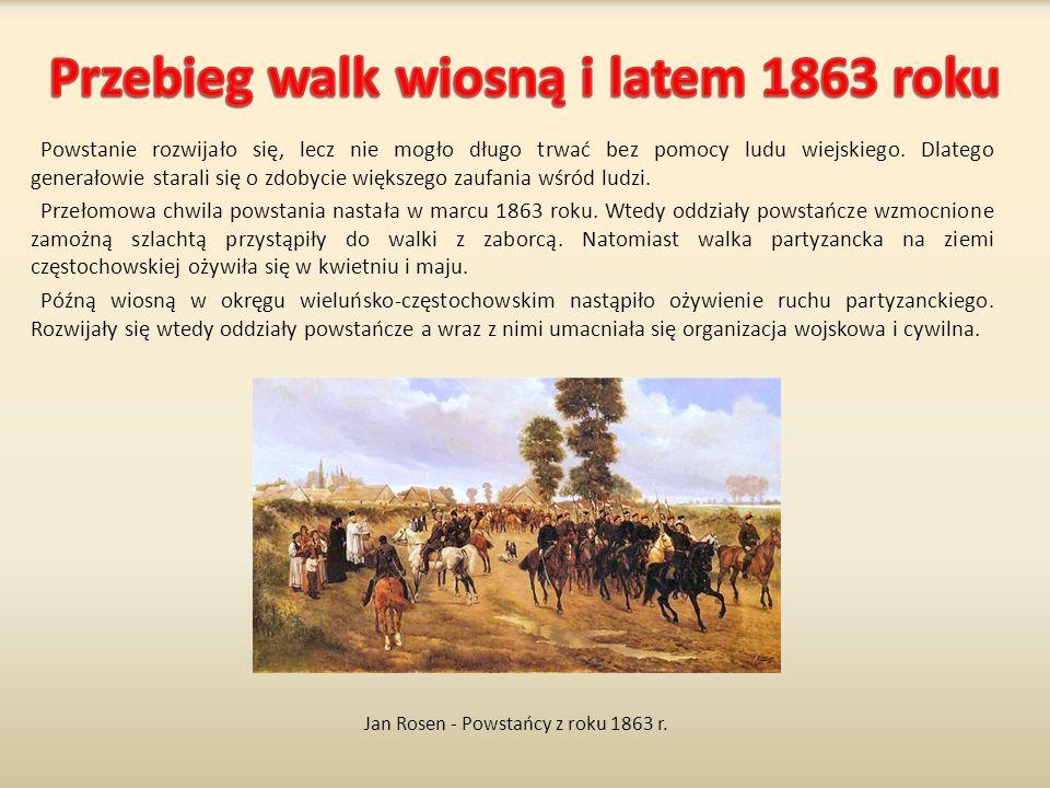 Powstanie rozwijało się, lecz nie mogło długo trwać bez pomocy ludu wiejskiego. Dlatego generałowie starali się o zdobycie większego zaufania wśród lu